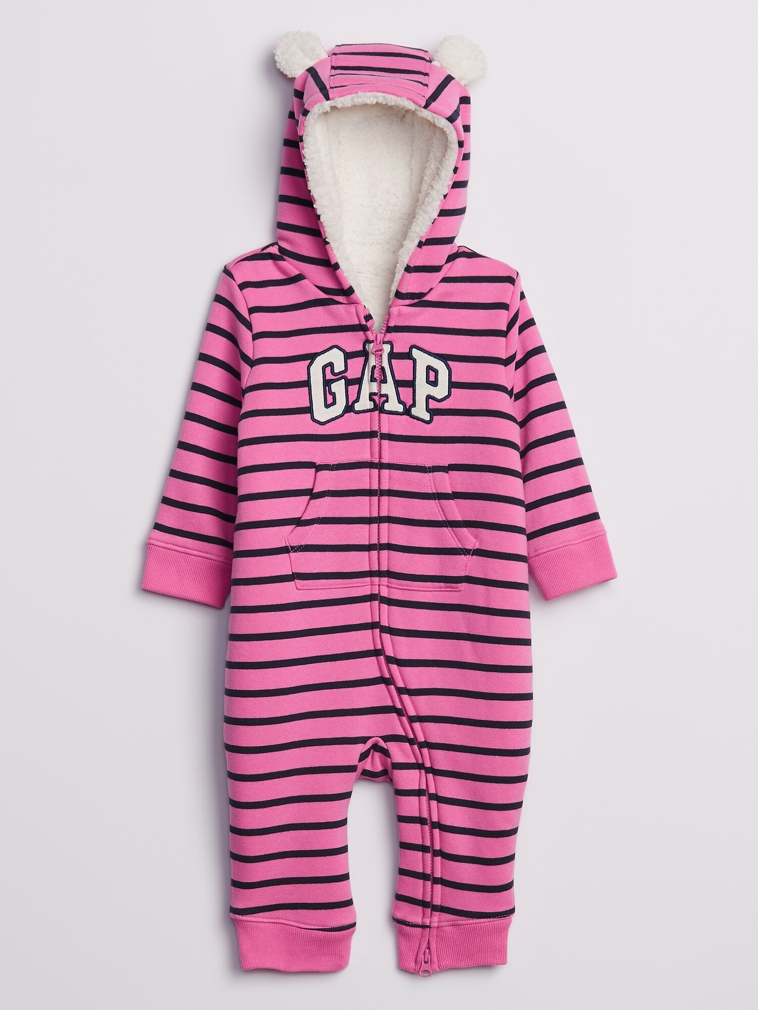 Baby overal GAP Logo cozy sherpa one piece (1)
