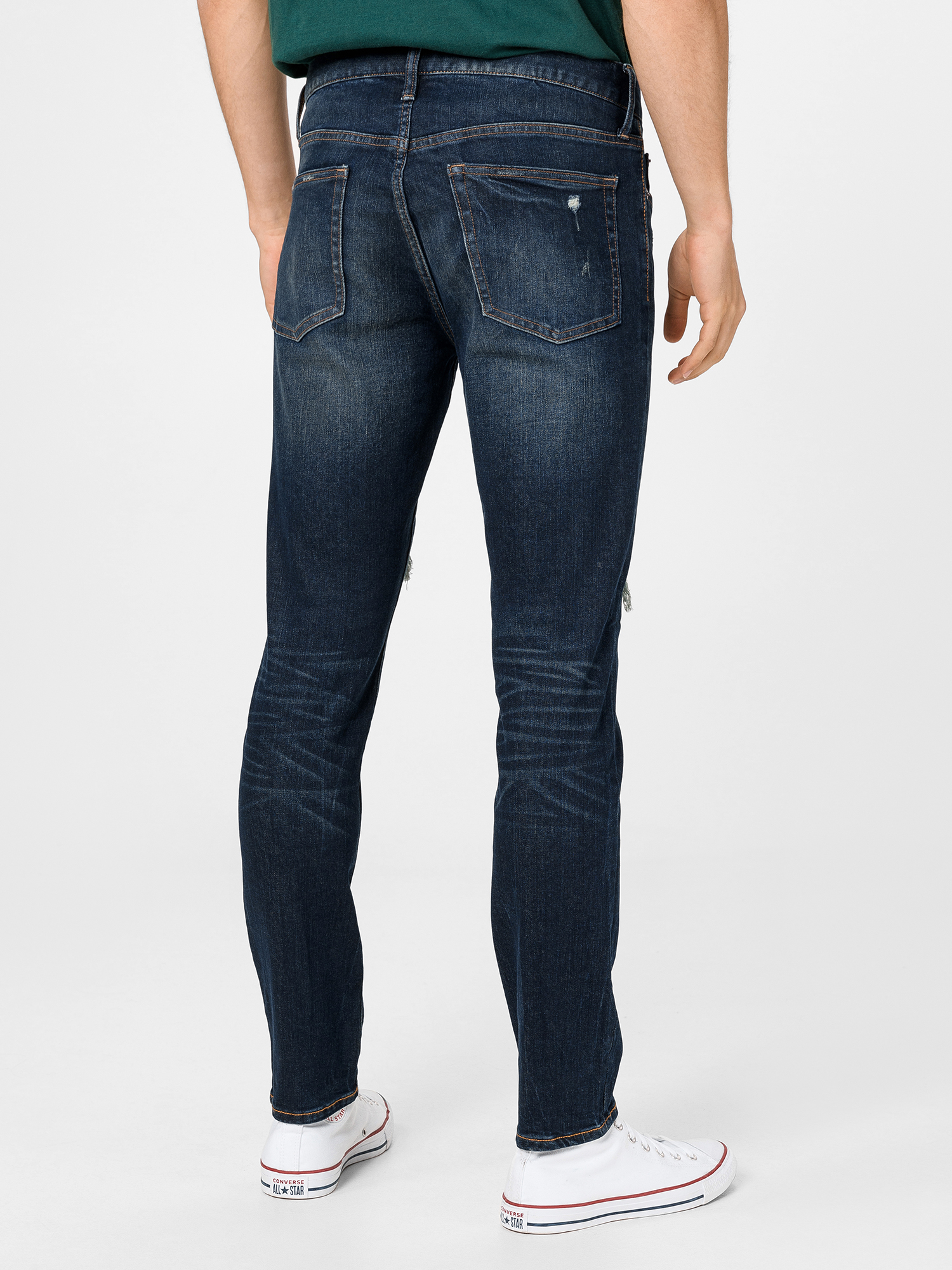 Džíny mid rise distressed skinny with GapFlex (2)