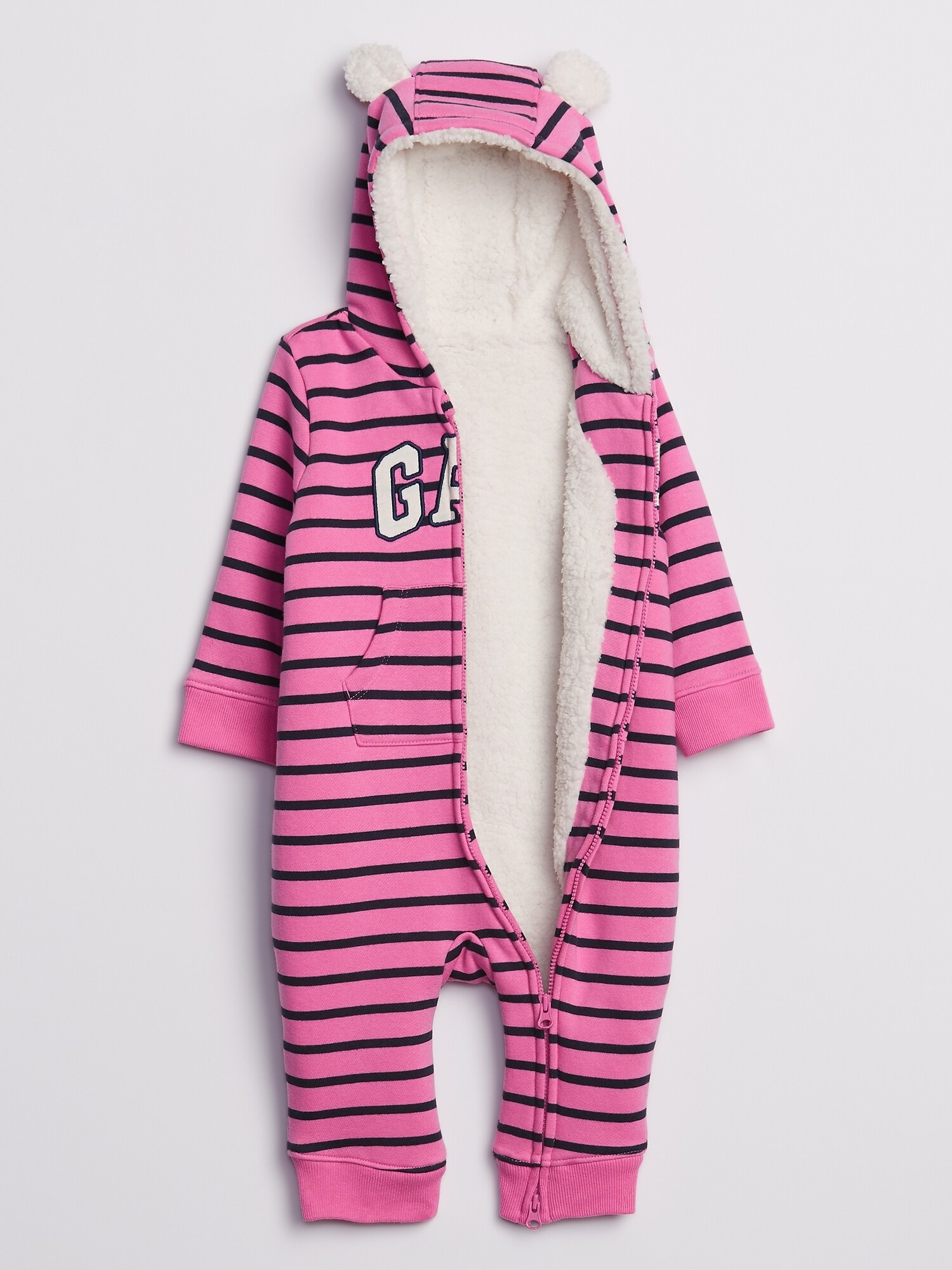 Baby overal GAP Logo cozy sherpa one piece (2)