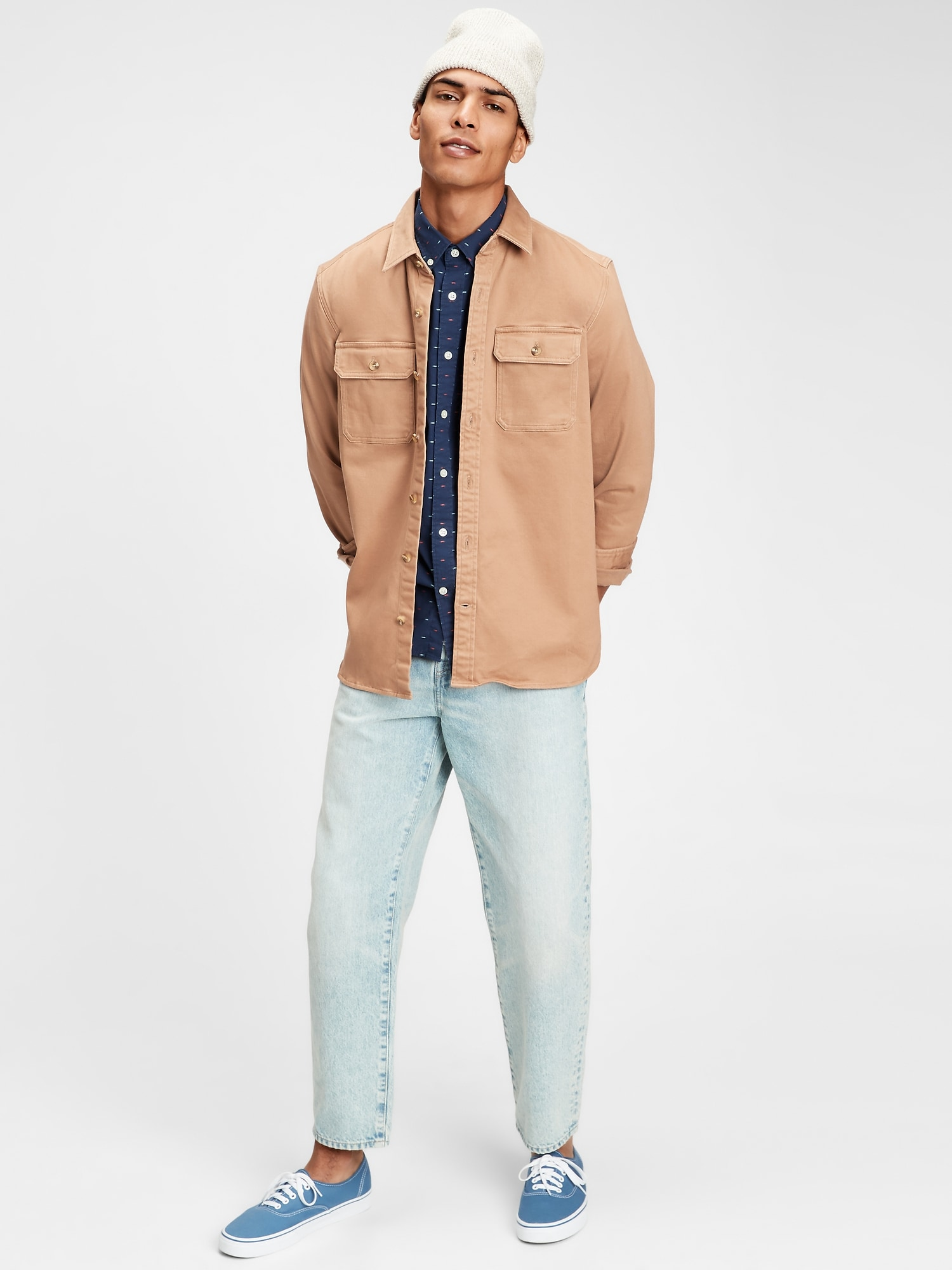 Košile lived-in stretch poplin shirt in untucked fit (3)