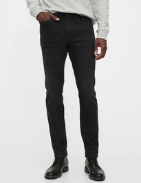 Džíny v-skinny soft high stretch black
