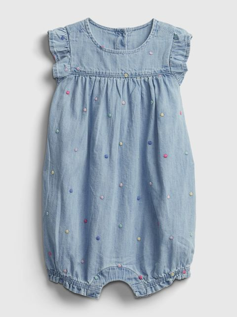 Baby overal denim shorty one-piece