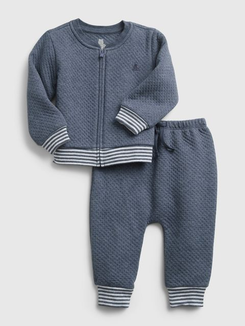 Baby teplákovka quilted outfit set