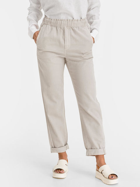 Kalhoty high rise paperbag pull-on pants