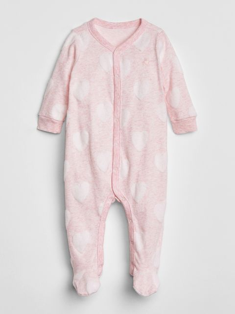 Baby overal first favorite print footed one-piece