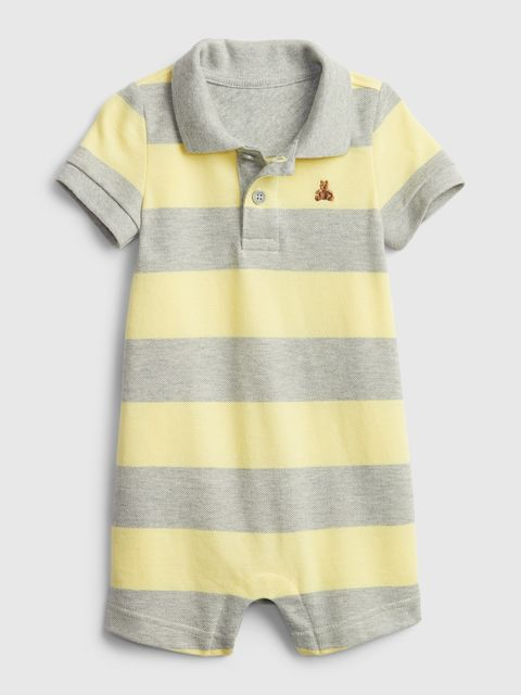 Baby overal polo shorty one-piece