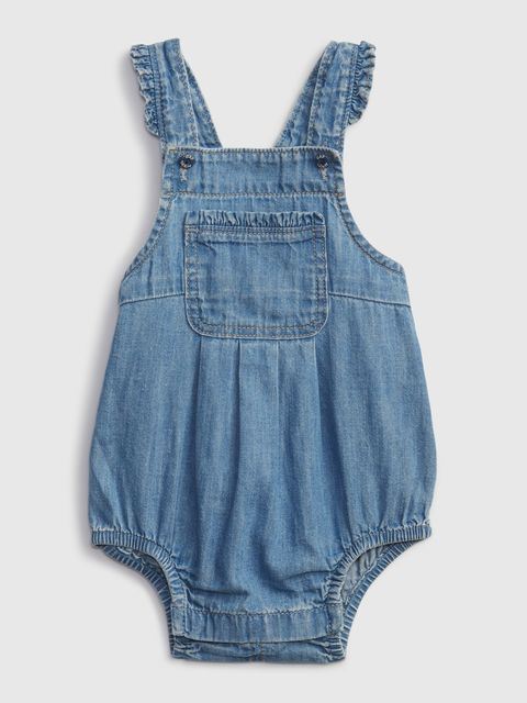 Baby overal denim bubble one-piece