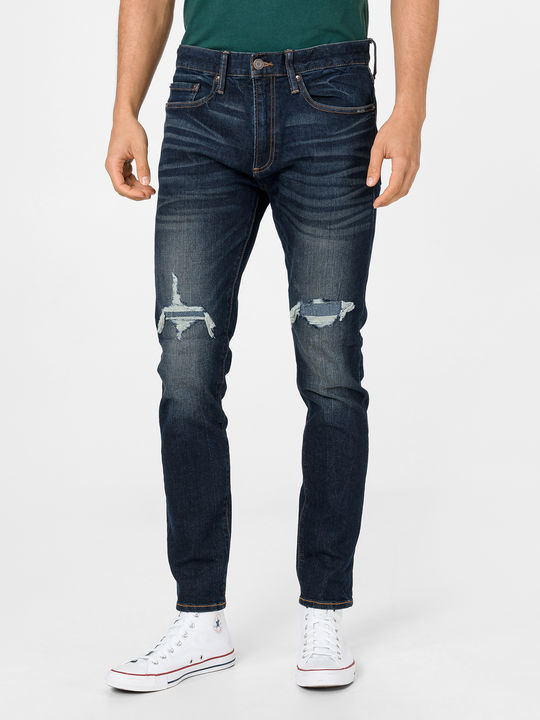 Džíny mid rise distressed skinny with GapFlex